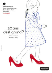 affiche du Salon du Livre jeunesse de Montreuil 2014