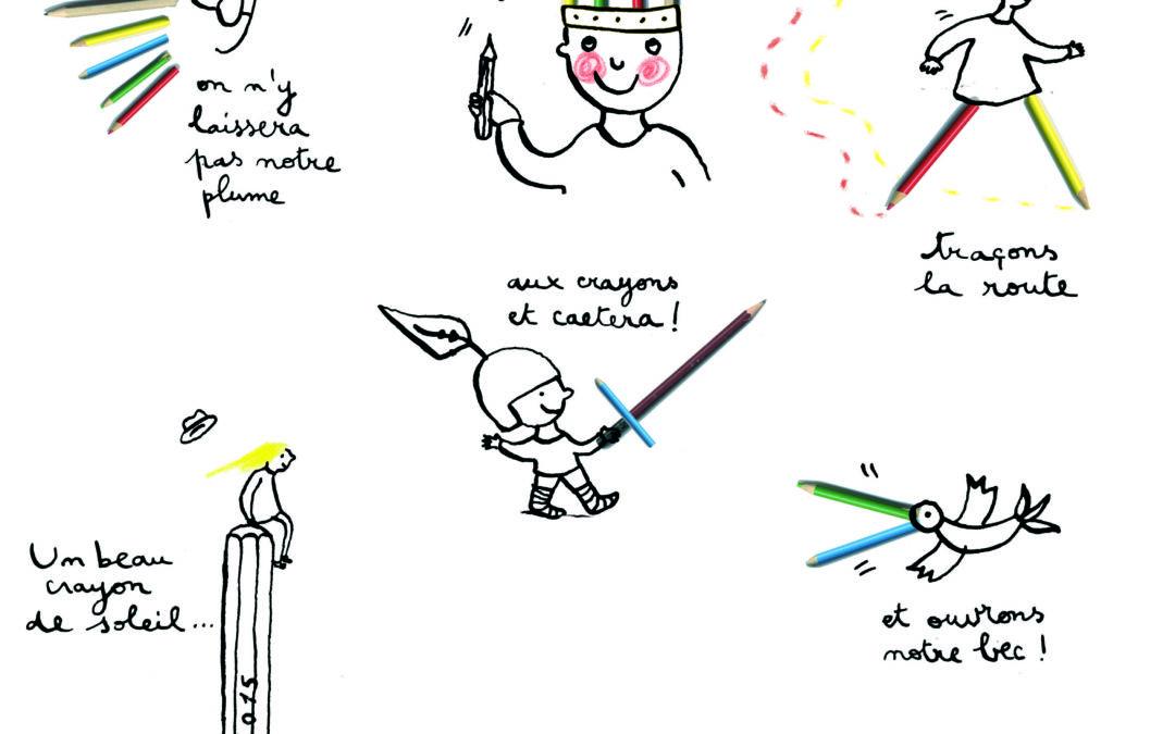 CROYONS EN NOS CRAYONS! dessins d'Anne Letuffe, janvier 2015