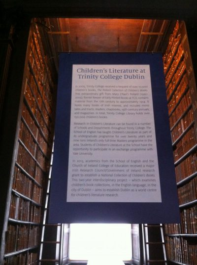 La littérature jeunesse à Trinity College à Dublin